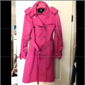 Burberry Bright Pink Trench